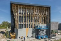 Baufortschritt EnergieWände Kletterhalle Weimar